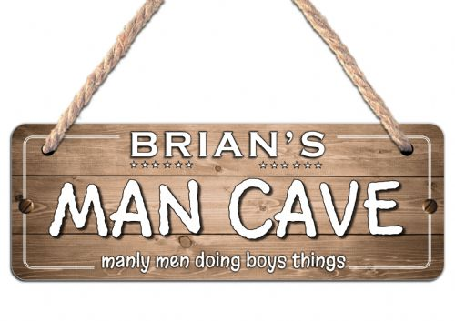 Personalised MAN CAVE Hanging Sign Door or Wall Plaque N31